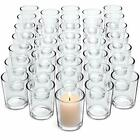 Glass Tealight Candle Holder Glass Votive Candle Holders Bulk Set of Clear