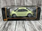 Pale Yellow Volkswagen Beetle Diecast Model Car 118 Scale Vintage New In Box