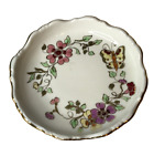 Zsolnay Hungarian Hand Painted Dish Plate Trinket Bowl Numbered Butterfly