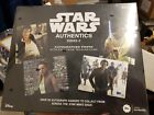 2019 TOPPS STAR WARS AUTHENTICS AUTOGRAPHED box 8 X 10 PHOTOS w card sealed