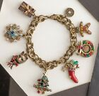 Victorian Trading Co Charms of Christmas Cat Tree Snowflake Wreath Bracelet