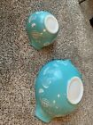 Vintage Pyrex Chip And Dip Set Hot Air Balloon  441 And 444 No Bracket