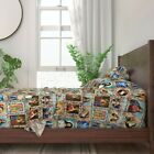 Catholic Saints Religious Collage Jesus 100 Cotton Sateen Sheet Set by Roostery