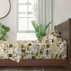 Vintage Memories Photos Greetings Cards 100 Cotton Sateen Sheet Set by Roostery