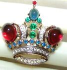 BEAUTIFUL CROWN TRIFARI SIGNED  NUMBERED AND MARKED DES PATPENDING CROWN PIN