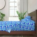Hanukkah Collage Watercolor Holiday 100 Cotton Sateen Sheet Set by Roostery