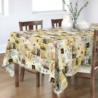 Tablecloth Vintage Memories Photos Greetings Cards Postcards Cotton Sateen