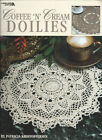 COFFEE N CREAM DOILIES Doily Patterns Crochet Leisure Arts Booklet 3073 1998
