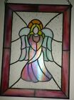Large Stained Glass Angel Suncatcher for Window Hanging or Wal 14 X 10