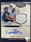 DERRICK HENRY, 2016 PLATES & PATCHES AUTO PATCH ROOKIE CARD, serial # 50 Titans