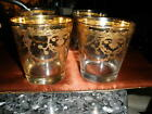 JPreziosi Lavorato A Mano Clear w Gold Overlay Lowball Glasses Made in Italy 4