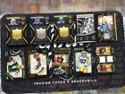 Lot of 10 2015 NFL Black Gold football cards all # Barry Sanders Jersey card, +