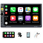 7 Apple Andriod Carplay Bluetooth Car Stereo Radio Touch Screen Double 2Din+Cam