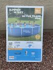 Summer Waves 15ft Active Metal Frame Pool with 600 GPH Filter Pump 15x33