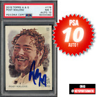 2019 Topps Allen & Ginter Full-Size Post Malone ON CARD auto PSA 10 GEM MINT 7!