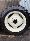 Pair Of Goodyear 13.6 R38 Tractor Tyres (on SAME Silver Rims)
