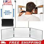 3 Way Mirror Glass Trifold Mirror for Self Hair Cutting  Styling Haircut Tool