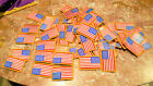 USA AMERICAN FLAG EMBROIDERED PATCH IRON ON SEW ON LOT OF 73 PATCHES NEW