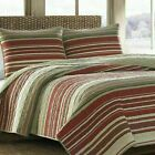 King Quilt Set Bedding Cabin Lodge Country Farm Rustic Coverlet All Season 3Pc