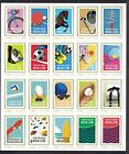 Japan personalized stamp sheet Olympic Paralympic games Tokyo2020 2 sheets of 20