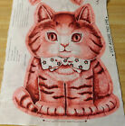 RARE FABRIC PANEL I AM CHARLIE THE KITTEN I LIVE IN THE CITY CUT  SEW VINTAGE