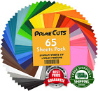 Permanent Adhesive Backed Vinyl Sheets by PrimeCuts USA 12 x 12 65 Counts