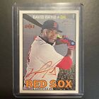 2016 Topps Heritage David Ortiz Red Ink Auto Autograph 67 Red Sox