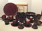 Lot of Avon 1876 Cape Cod Collection Ruby Red Glass Set Of 25 Pieces