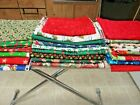 LOT OF CHRISTMAS QUILTING COTTON PRINT FABRIC 23 yards 7 LBS BRANDS  UNBRANDED
