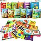 My First Soft BookTEYTOY Nontoxic Fabric Baby Cloth Activity Crinkle Soft Books