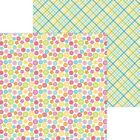 Doodlebug Cute  Crafty Double Sided Cardstock 12X12 Cute As A Button