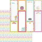 Doodlebug Cute  Crafty Double Sided Cardstock 12X12 Happy Thoughts