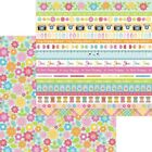 Doodlebug Cute  Crafty Double Sided Cardstock 12X12 Painted Posies