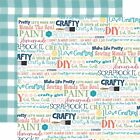 Echo Park Paper Craft  Create Double Sided Cardstock 12X12 Crafty  Happy
