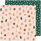 American Crafts Busy Sidewalks Double Sided Cardstock 12X12 Christmas Cookies
