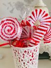 Christmas Decoration Two lollipops two candycane