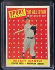 1958 Topps Mickey Mantle Topps All Star 487 Sports Magazine Selection Yankees