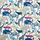 2 yds LIBERTY London TANA LAWN Queue for the Zoo Cotton Lawn Fabric Purple