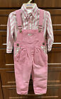 RARE Vintage Baby Guess Girls Blouse  Overalls Set EUC worn 1x Size 24 Mths