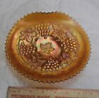Carnival Glass Northwood Grape  Cable Marigold 1 Side Up Chop Plate 7 3 4