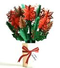 Lovepop Christmas Holiday Poinsettia Bouquet 3D Popup Flower Card Sealed NEW