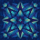Hoffman Fabrics Crystal Blue designed by Jeannie Sumrall Alero Quilt Kit