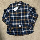 American Heritage Dawson And Brooks Size Extra Large Blue Brown Flannel