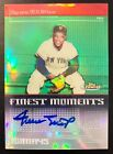 Willie Mays 2004 Topps Finest Moments Refractor On-Card Auto! Perfect Autograph!