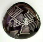 David Schwarz Signed Art Glass Sculpture Geometric V Axis Collectible 12 18 1987