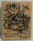 PSX WATER LILIES Lily Botanical Blooms Flowers Floral K 1438 Rubber Stamp