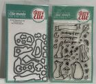 Avery Elle MORE STORIES Animals Clear Rubber Stamps Dies Lot