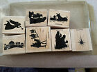 Stampin Up Nativity Silhouette Religious Christmas Wisemen 1997