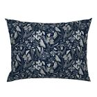 Orchid Moth Fern Tropical Ladybug Limited Color Palette Pillow Sham by Roostery