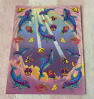 Vintage Lisa Frank Suni  Echo Spotted Dolphins Fish Crowns Sticker Sheet S385